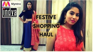 Myntra Festive Haul | Indya,9rasa,Aks Shopping Festive Haul | Swati Rastogi