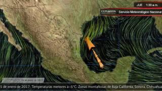 24 de enero de 2017 1900h Pronóstico del Tiempo