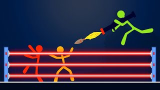 EXTREME LASER STICK FIGHT MODE! (Stick Fight)
