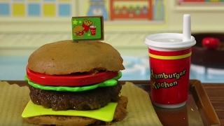Juicy hamburger making(Cooking toy) Konapun 肉汁たっぷり ハンバーガー作り こなぷん