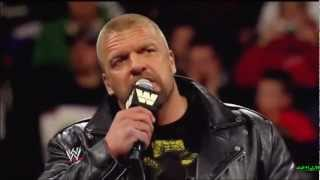 WrestleMania 29 : Triple H vs Brock Lesnar Promo