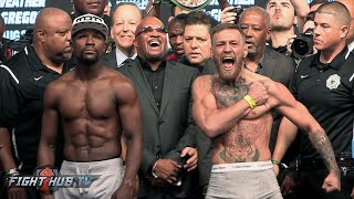 FULL & UNCUT - FLOYD MAYWEATHER VS CONOR MCGREGOR WEIGH IN & FACE OFF VIDEO