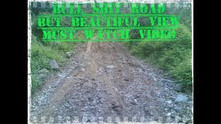 Bad road bike riding with beautiful view around by trending technology and stunts 2018