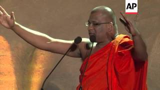 +4:3 Myanmar's Anti-Muslim monk Ashin Wirathu joins hands with a Sri Lankan group