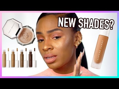 Full Face Using Fenty Beauty 2.0 NEW Pro Filt r Concealer Setting Powder Foundation Shades