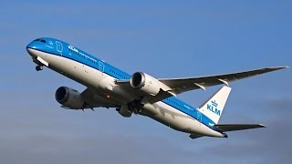 KLM's 2nd New Boeing 787-9 Dreamliner - Takeoff at AMS (PH-BHA)