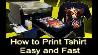 How to Print T-Shirt Easy and Fast Using DTG Printer