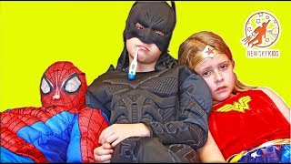 Little Superheroes 14 - Super Sick with Spiderman, Batman, Wonder Woman, The Doctor and The Stealer