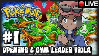 Pokemon Y 3DS - Pokemon X & Y Livestream Part 1 & Giveaway