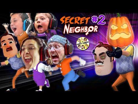 HELLO NEIGHBOR PUMPKIN HEAD 👻 Halloween Hide n Seek Secret Neighbor FGTEEV House Alarm Goes Off