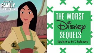 The WORST DISNEY Sequel Movies on straight to DVD release