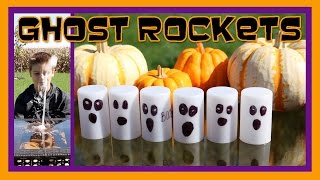 HALLOWEEN GHOST ROCKETS Easy Kids Science Experiments