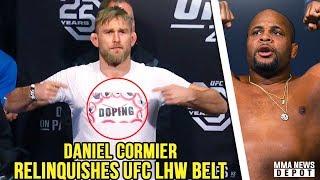 UFC Fíghters speak out against USADA; Cormier vacates UFC LHW Belt;Jones & Dana react to DC;Novitzky