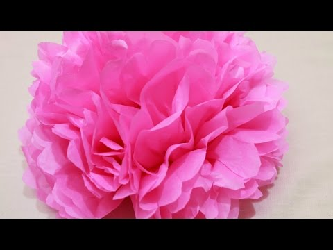 Create Easy Tissue Paper Pom Poms - DIY Crafts - Guidecentral
