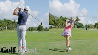 Watch a 10-Year-Old Girl Beat Brooks Koepka | Golf Digest