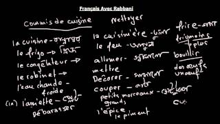 Francais avec Rabbani TP n° 6/ cuisine