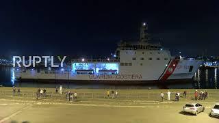 Italy: Diciotti ship docks in Catania, 177 rescued migrants remain on board
