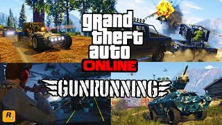 GTA 5 GUNRUNNING DLC $$$60,000,000 SPENDING SPREE VEHICLE CUSTOMIZATION - NEW GTA 5 GUN RUNNING DLC