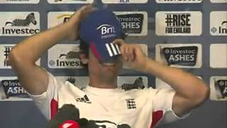 Girl faints during Alastair Cook press conference   Video Dailymotion