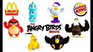 2017 BURGER KING ANGRY BIRDS MOVIE McDONALD'S HAPPY MEAL TOYS LEGO NINJAGO MOVIE FULL SET 6 KIDS USA