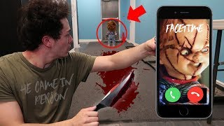 CALLING CHUCKY DOLL ON FACETIME AT 3 AM (HE CAME WITH A KNIFE) | DO NOT FACETIME CHUCKY AT 3:00 AM!