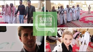 Americans In Saudi Arabia - Traditional Saudi Dance - رحلة الامريكان إلى السعودية 3/ 3 العرضة