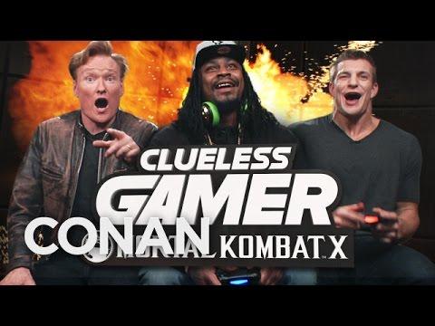 "Download Lagu Marshawn Lynch and Rob Gronkowski Play ""Mortal Kombat X"" With Conan O'Brien MP3"