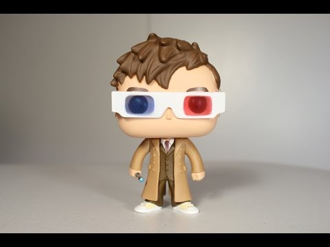 Doctor Who TENTH DOCTOR with 3D GLASSES Funko Pop review