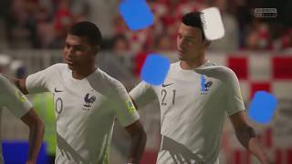 FRANCE WINS 2018 World Cup Final over Croatia (FIFA 18) World Cup 2018