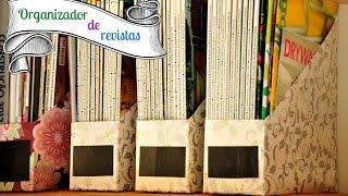 DIY ORGANIZADOR DE REVISTAS - MAGAZINE ORGANIZER | #POCFazendoArte Ep. 15