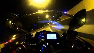 Kawasaki Ninja ZX-6R 636 2013 Night Speeding with M4 GP Slip on Exhaust