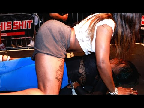 Girl On Girl Twerking at The Jump Off 2014 Event #11