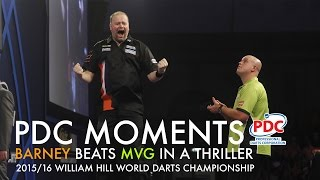 PDC Moments: Barney beats MvG at the 2016 World Champs