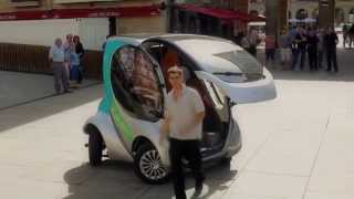 Hiriko folding electric car - full demo