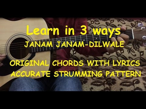 Janam Janam Guitar Chords Lesson with Intro Tabs | Cover | Arijit ...
