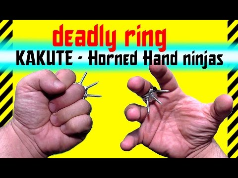✔ How to make a deadly ring KAKUTE  Horned Hand ninja.  Brass knuckles tiger claws for self-defense