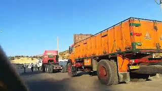 La grève générale des routiers continue en Iran, ici à Ilam. le 26 septembre.