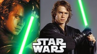 Why Anakin Skywalker Didn't Use a GREEN Lightsaber - Star Wars Explained