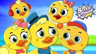 Five Little Ducks   Bottle Squad Cartoons   Songs For Kids