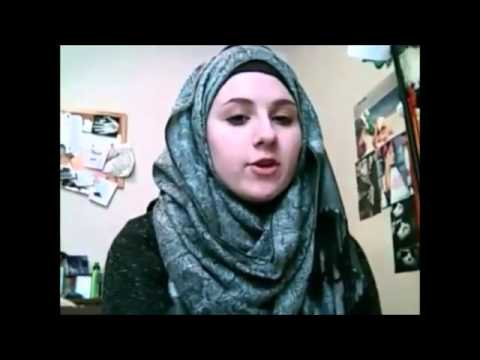 usa girl converted to islam at 11 years old with higab with her mother