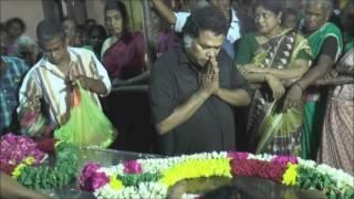 santhanam dady death sad movements|santhanam father death