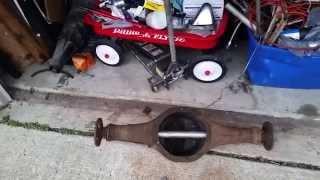 Shortened ford 9 inch rear end for subaru 360 v8