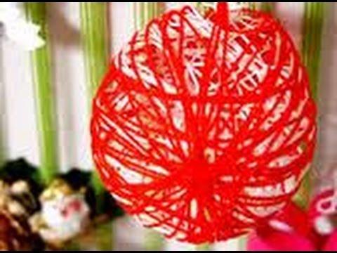 Jak zrobić bombki na choinkę z balona i sznurka 09