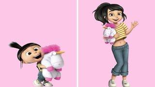 Así serían los personajes de nuestros dibujos animados favoritos si fueran mayores