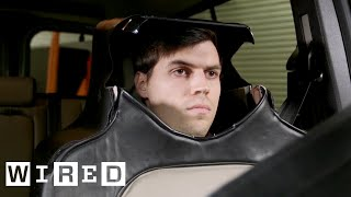 Man Dresses as a Car Seat in the Name of Self-Driving Science   WIRED
