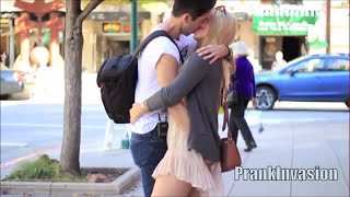 Kissing Prank  - Secret Handshake ( Kissing Hot Sexy Girls )