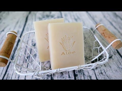 蘆薈洗顏皂DIY how to make aloe vera handmade soap 手工皂