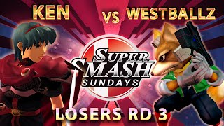 SSS 27 - LiquidKen Vs. Westballz (Fox) - Losers Round 3