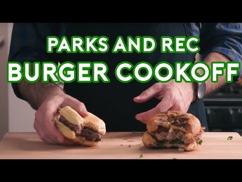 Binging with Babish Parks & Rec Burger Cookoff