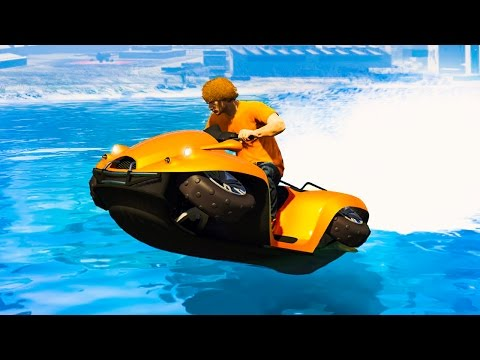 NEW EXTREME HOVERCRAFT RACE GTA 5 Funny Moments